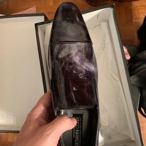 Giovanni Conti Purple Grey marble Slip-on 42 NIB